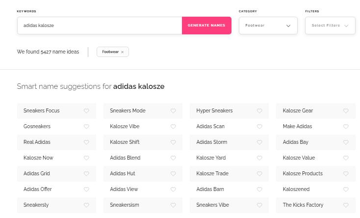 Namify optymalizacja marki na podstawie adidas